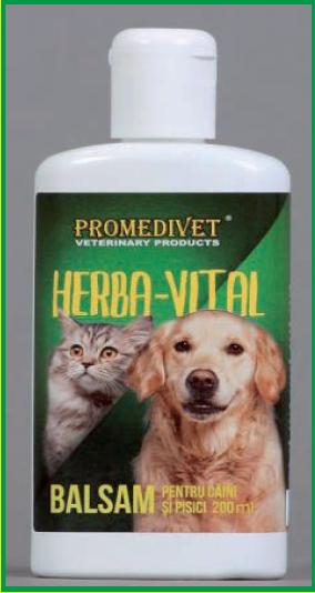 Balsam HERBA-VITAL pentru câini şi pisici