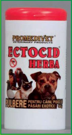 ECTOCID-HERBA pulbere anti-parazitară