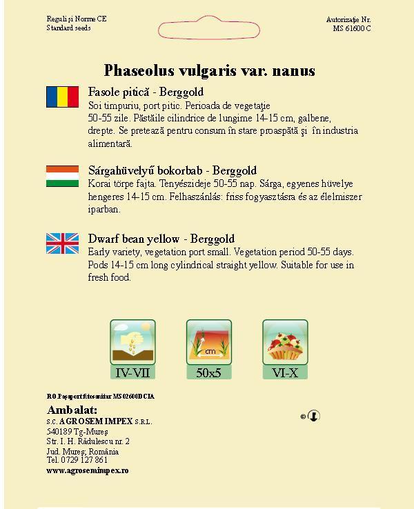 Fasole pitică - Berggold