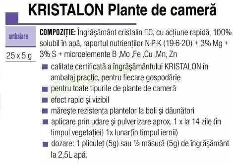 Kristalon plante de cameră