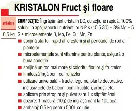 Kristalon fructe şi flori