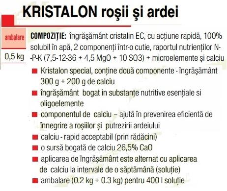 Kristalon roșii și ardei