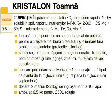 Kristalon toamnă