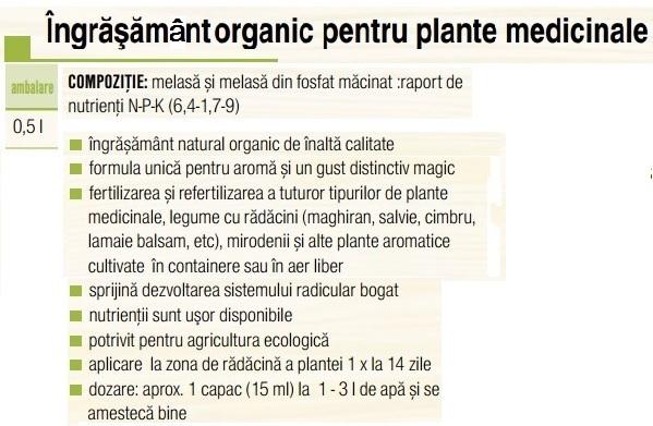 Ingrășământ plante medicinale 0,5 L