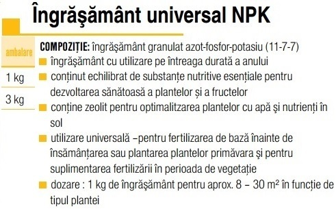 Ingrăşământ universal NPK
