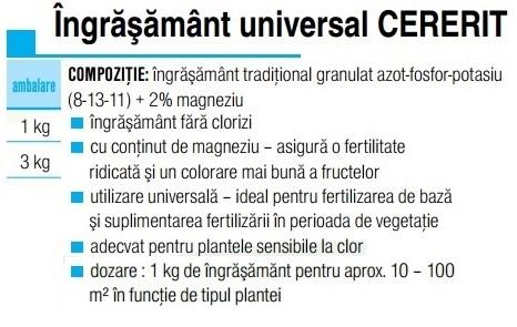 Ingrăşământ universal CERERIT