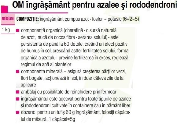 Ingrăşământ  azalee- rododendroni 1 kg
