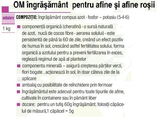 Ingrăşământ afine şi afine roşii 1 kg